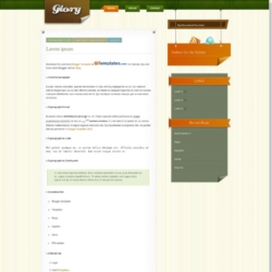 Glory Blogger Template