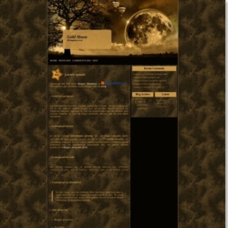Gold Moon Blogger Template