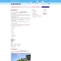 GossipCity Blogger Template