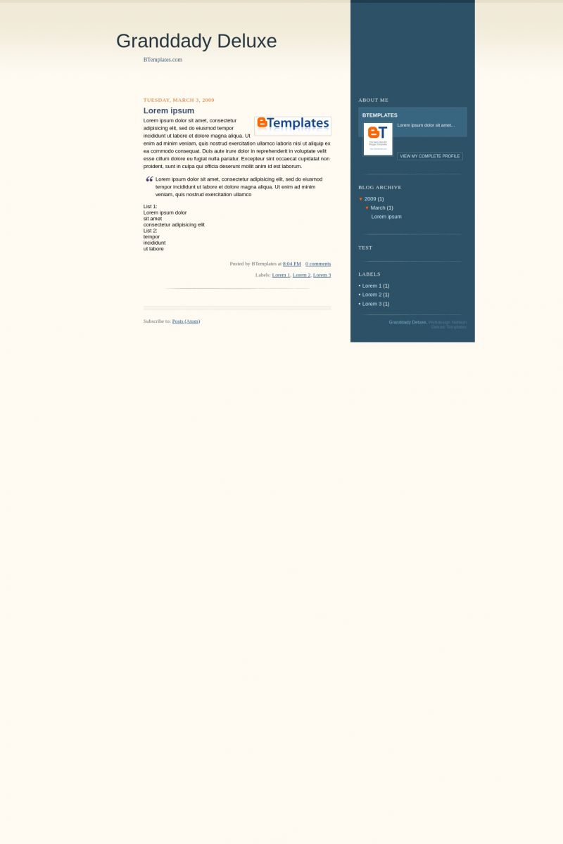 Download Grandaddy Deluxe Blogger Template