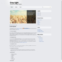 Gray Light Blogger Template