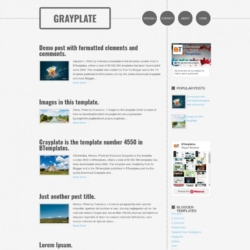 Grayplate Blogger Template