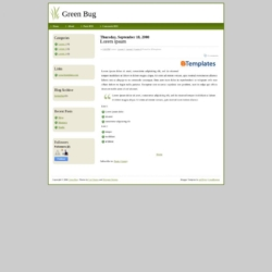 Green Bug Blogger Template