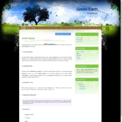 Green Earth Blogger Template