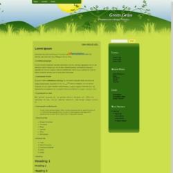 Green Grass Blogger Template
