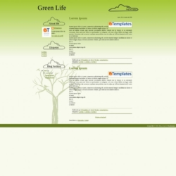 Green Life Blogger Template