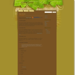 Green Lyrics Blogger Template