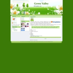 Green Valley Blogger Template