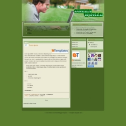 Green World Blogger Template