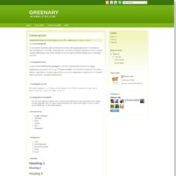 Greenary Blogger Template
