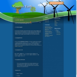 Greener Earth Blogger Template