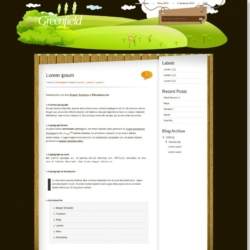 Greenfield Blogger Template