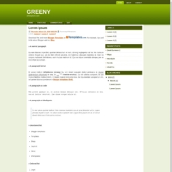 Greeny Blogger Template