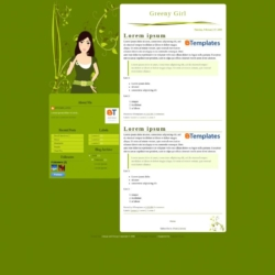 Greeny Girl Blogger Template
