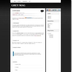 Grey Mag Blogger Template