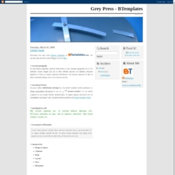 Grey Press Blogger Template