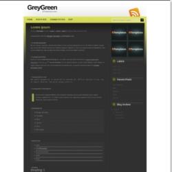 GreyGreen Blogger Template