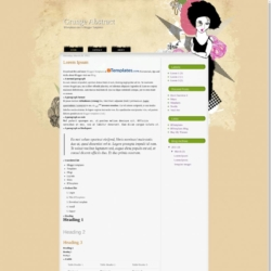 Grunge Abstract Blogger Template