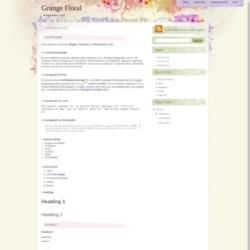 Grunge Floral Blogger Template