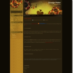 Grunge Poker Blogger Template