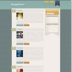 Grunge Theme Blogger Template