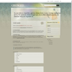 GrungeD Blogger Template