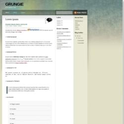 Grungie Blogger Template