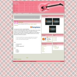 Guitar Pink Blogger Template