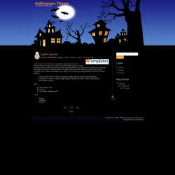 Halloween Theme Blogger Template