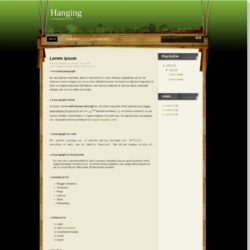Hanging Blogger Template