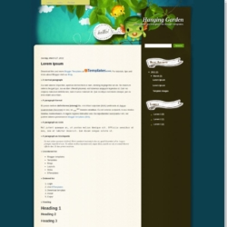 Hanging Garden Blogger Template
