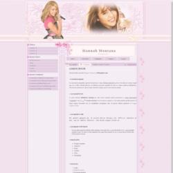 Hannah Montana Blogger Template