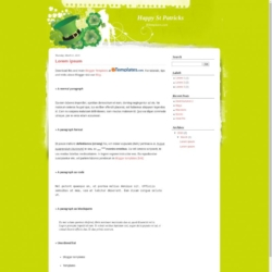 Happy St Patricks Blogger Template