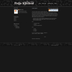 Hell's Kitchen Blogger Template