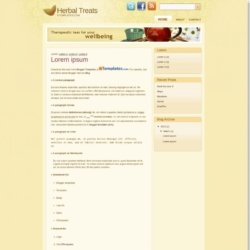 Herbal Treats Blogger Template