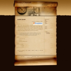 History Channel Blogger Template