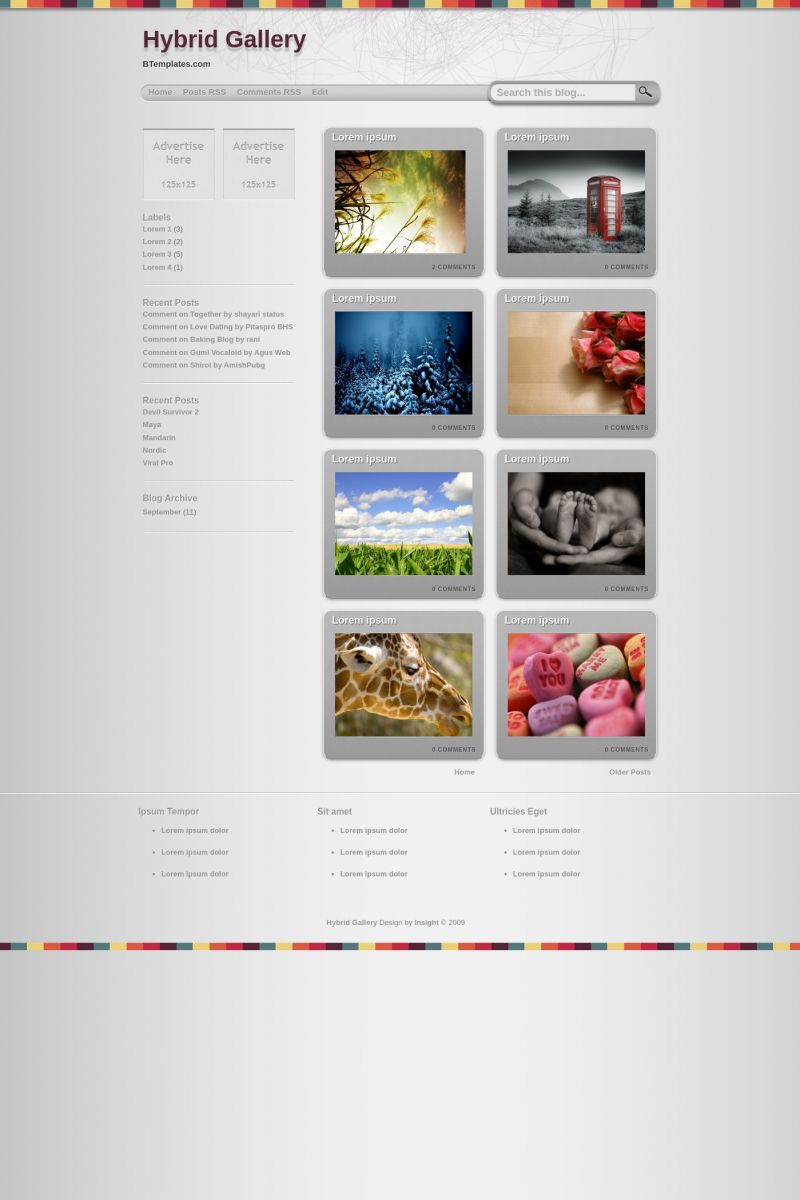 Download Hybrid Gallery Blogger Template