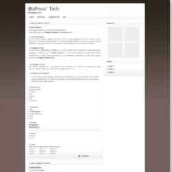 iBizPress Blogger Template