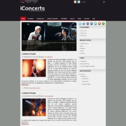 iConcerts Blogger Template