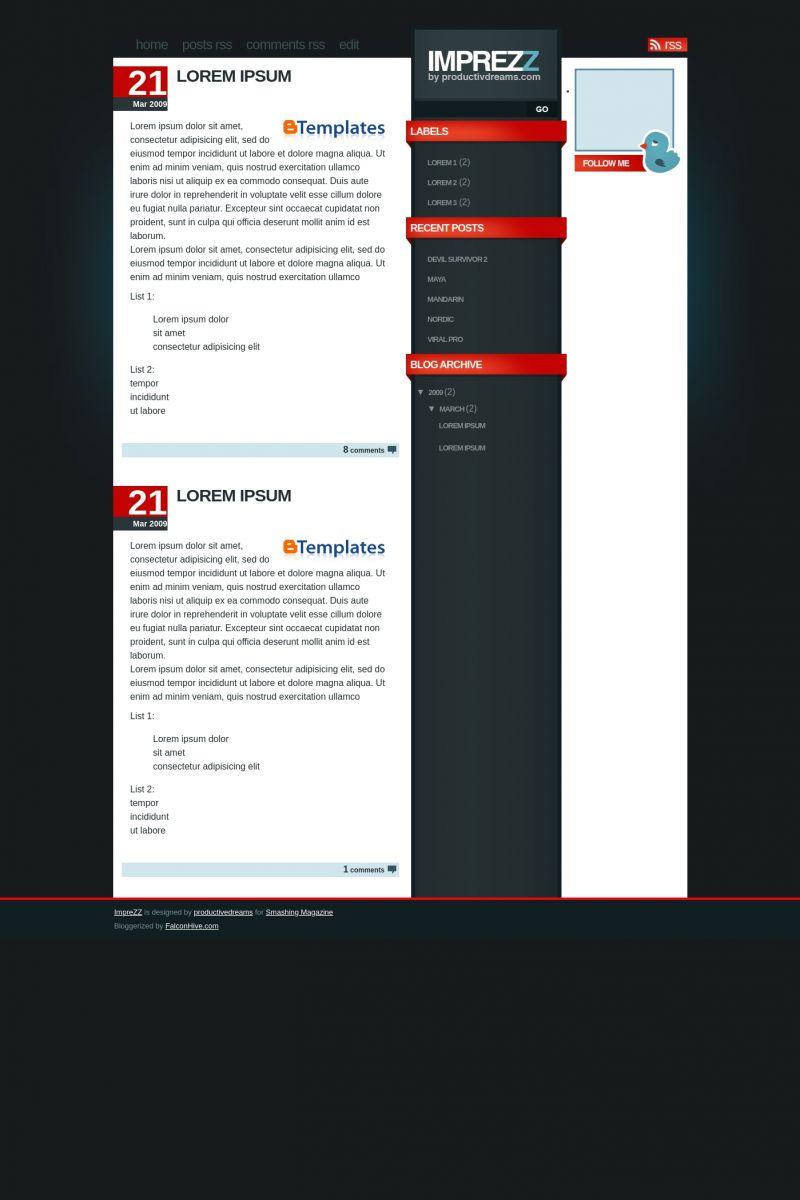 Download ImpreZZ Blogger Template