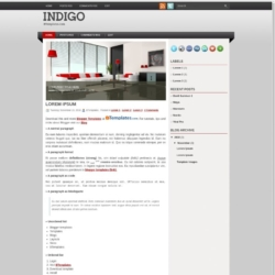 Indigo Blogger Template