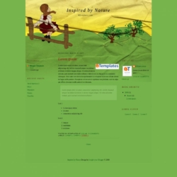 Inspired by Nature Blogger Template