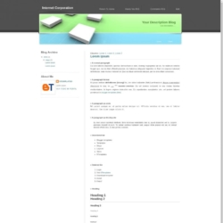 Internet Corporation Blogger Template