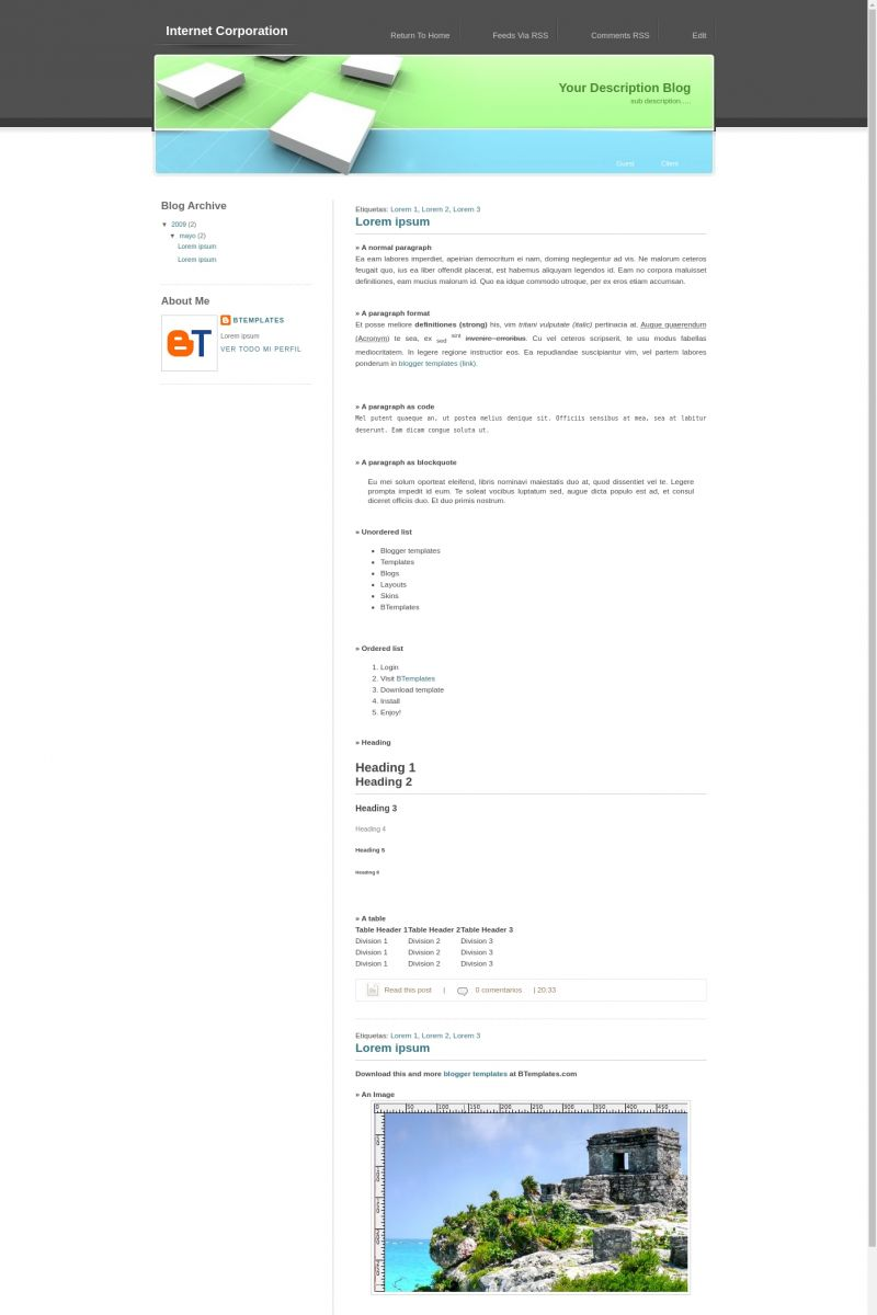 Download Internet Corporation Blogger Template