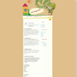 Kinder Garden Blogger Template