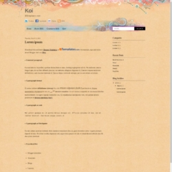 Koi Blogger Template