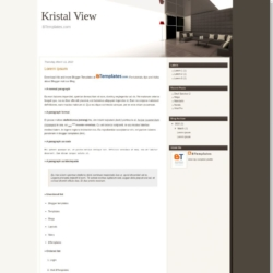 Kristal View Blogger Template