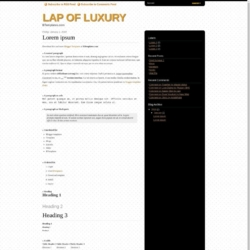 Lap of Luxury Blogger Template