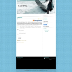 Lazy Day Blogger Template