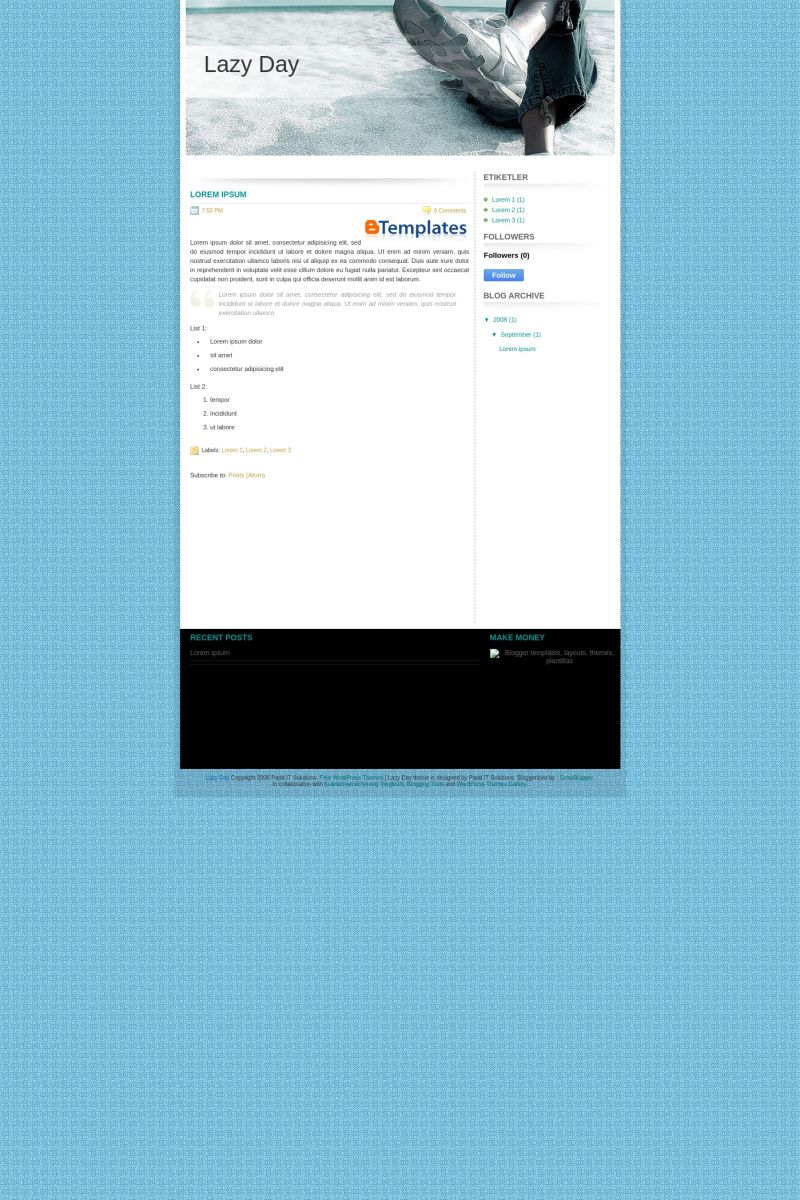 Download Lazy Day Blogger Template